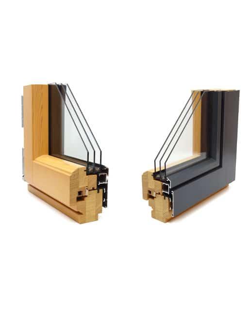 Holz-Alu-Fenster Profilansichten